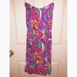 Lilly Pulitzer XS strapless swing dress